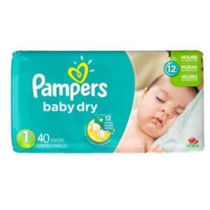 Pamper Baby Dry 1 - 2/40's