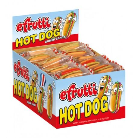 Efrutti Hot Dog Gummy Candy - 60ct