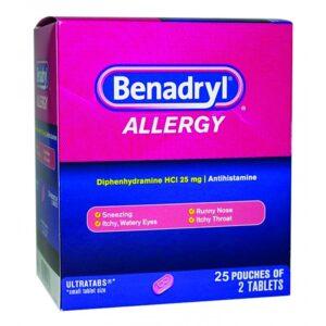 Benadryl Allergy 25mg -25/2's