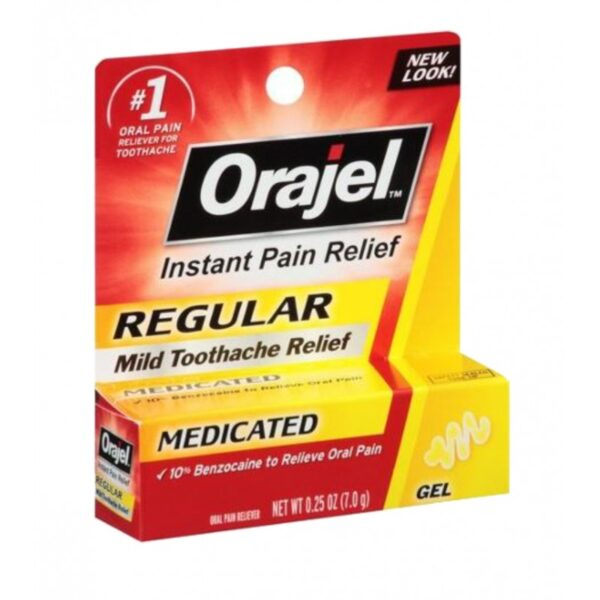 Orajel Regegular Gel - 0.25 oz.