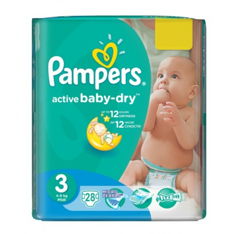 Pampers Baby Dry Convenience Pack 3 - 4/28's