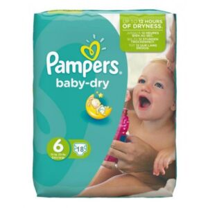 Pampers Baby Dry Convenience Pack 6 - 4/18's