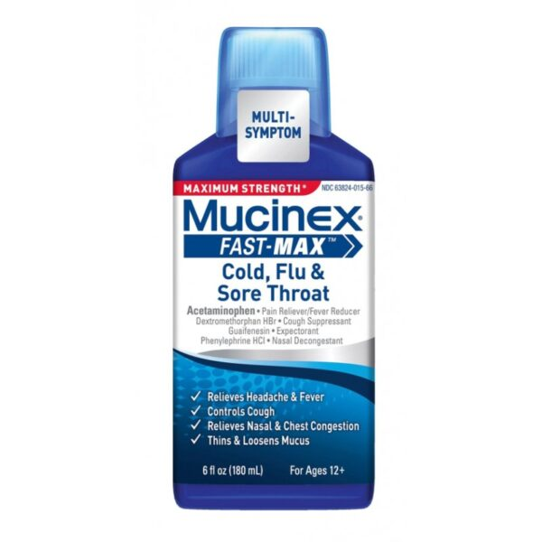 Mucinex Fast-Max Cold & FLu Sore Throat 6oz