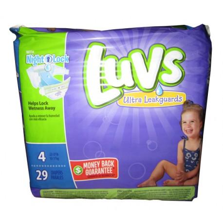Luvs Diapers W/Night Lock Jumbo Pack 4 - 4/29's