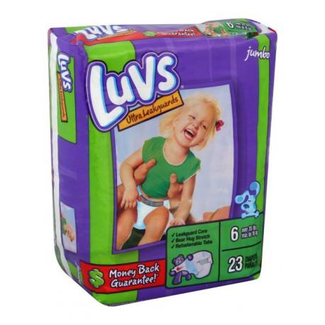 Luvs Diapers W/Night Lock Jumbo Pack 6 - 4/21's
