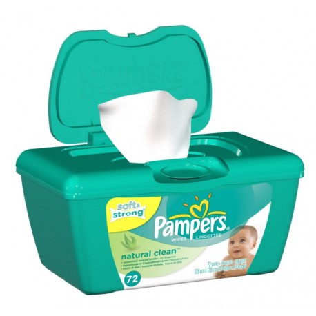 Pampers Wipes Natural Clean - 72ct