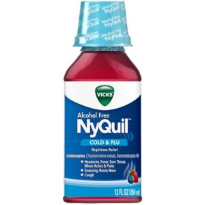 Nyquil Cold & Flu, Alcohol Free - 12 fl. oz