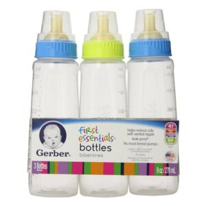 Gerber First Essentials Baby Bottles 9 oz. - (Pack of 6)