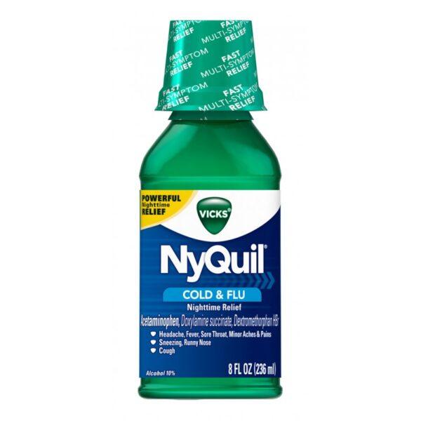 Nyquil Liquid Cold & Flu (Green) - 8 fl. oz.