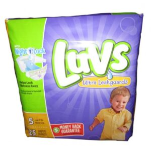 Luvs Diapers W/Night Lock Jumbo Pack 5 - 4/25's