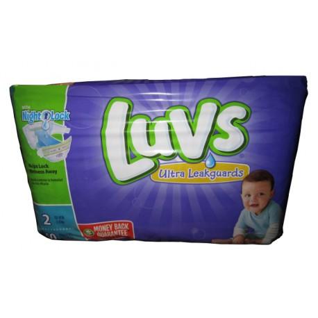 Luvs Diapers W/Night Lock Jumbo Pack 2 - 2/40's