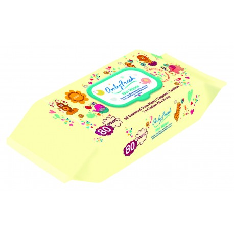 Only Fresh Wet Wipes (Yellow) - 80 Count