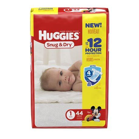 Huggies Diapers Snug & Dry 1 - 4/44's