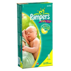 Pampers Baby Dry Jumbo Pack 1 - 3/50's