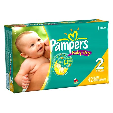 Pampers Baby Dry Jumbo Pack 2 - 4/42's